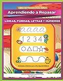 Libro de trazos para niños: Aprendiendo a Repasar líneas, formas, letras y números | Actividades...