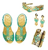 Disney Aladdin Jasmine royal accessory set is an absolutely stunning set inspired by Jasmine accessories from the film This set will complete any Jasmine dress up moment Finished with beautiful teal and gold colored details This set includes a comple...