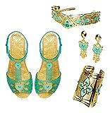 Aladdin Disney Jasmine Deluxe Royal Accessory Set, Includes: Shoes, Earrings, Cuff & Headdress
