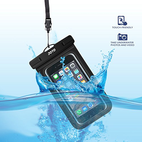 JOTO Universal Waterproof Pouch Cellphone Dry Bag Case for iPhone 12 Pro Max 11 Pro Max Xs Max XR X 8 7 6S Plus SE, Galaxy S20 Ultra S20+ S10 Plus S10e /Note 10+ 9, Pixel 4 XL up to 7' -Black