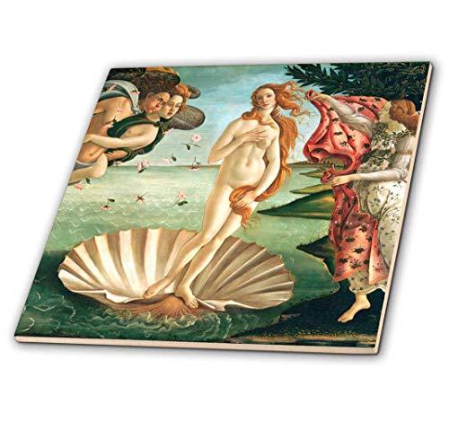 3dRose CT 162552_ 1Botticelli Geburt der Venus 1485berühmten Classic Art vom italienischen Masters Ocean Sea Shell Masterpiece-Ceramic Fliesen, 4-Zoll