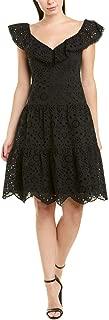 Womens A-Line Dress, 8, Black