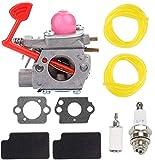 HONEYRAIN WT-875 Carburetor for Craftsman 358794650 25Cc 210Mph / 450 358794600 25Cc 200 Mph / 430 Cfm Gas Blower Poulan BVM200C BVM200VS P200C Husqvarna GBV325 P325 200mph Blower Replace 545081855