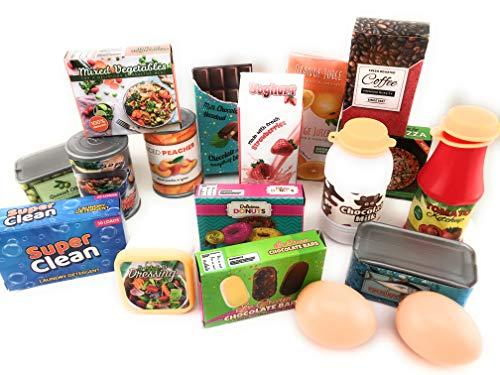 Verschiedenes Zubehör und Spielgeld für den Kaufladen oder die Kinderküche (großes Sortiment)