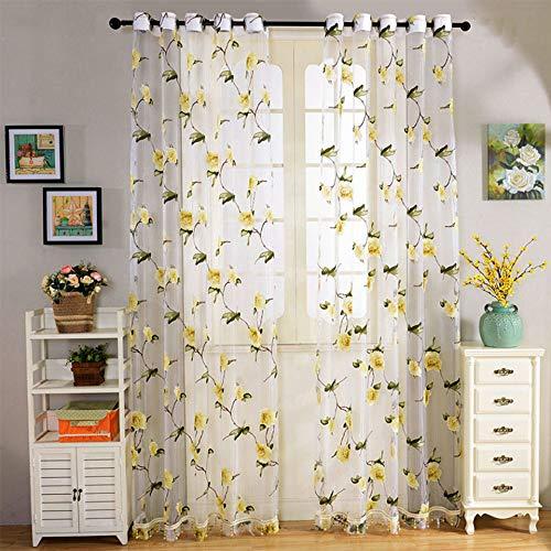 Bumpy Road Neue Blumen Tüll Fenstervorhänge für Wohnzimmer Küche Fenster Screening Sheer Voile Vorhänge Vorhänge Volants Panel Home Decor