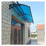 Tejadillo De Protección, Marquesinas Exterior para Puertas Y Ventanas con Soporte De Aleación De Aluminio Policarbonato Refugio De Lluvia para Techos Protección Solar UV MAHFEI