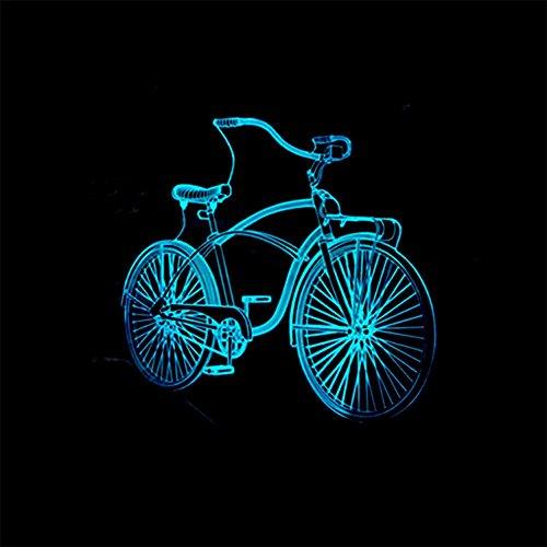 baby Q LED 3D Lampe, Lumières tactiles colorées de Bicyclette, Lampe visuelle Acrylique, lumière d'alimentation d'USB