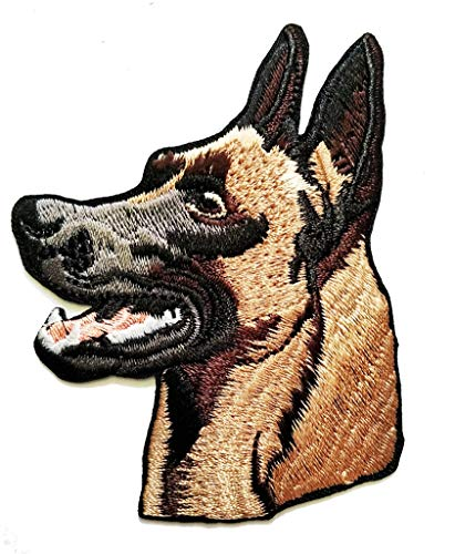 PP Patch German Shepherd Alsatian Dog Pet Cartoon Embroidered Sew Iron on Patch Applique for Gifts Crafts Jeans T-Shirt hat Clothing Fabric Costume