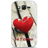 ONOZO Heart On Table Design Soft TPU Gel Case for Samsung