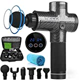 MECO 20 Speed LED Touch Screen Muscle Massage Gun Massager Booster Percussion 2500mAH+Carry