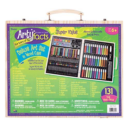 Darice 1103-10 131-Piece Premium Art Set with Wood Box