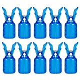 Junjie Blaue Transparente Aufbewahrungsbox KüNstliche Tintenfischhaken-SchutzhüLle Angelhaken Holzgarnelen-SchutzhüLle rutschfeste Aufbewahrungsbox PVC 2.5X2.5X5.4Cm