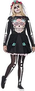 Ladies Halloween Horror Fancy Party Dress Scary Sugar Skull Sweetie Costume