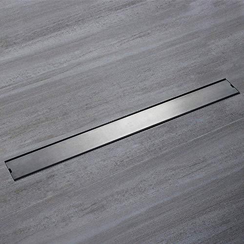 ZXL Anti-klomp RVS Afvoer Vloer Afvoer Vloerafvoer Badkamer Douche Vloertegel Grid Met Verwijderbare Cover Voor Keuken, Wasruimte, Garage En Kelder 600X68mm