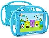 BFCGDXT Tablet per Bambini da 7 pollici (per i più piccoli) Tablet didattico adatto ai Bambini con videocamera WiFi. Tablet per Bambini di controllo genitori con custodia antiurto (BLU)