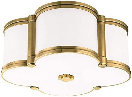 new arrival Hudson outlet online sale Valley Lighting 1212-AGB Chandler - Two Light Flush Mount, new arrival Aged Brass Finish online