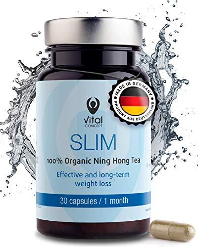 Vital Concept Slim - Gesunde Gewichts Abnahme und Schlanken Figur, mit L-Carnitin und Ning Hong Tee. Unterstützt die Schnelle Fettverbrennung und Verlust von Bauchfet. 30 Kapseln, 30 Tage