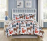 VCNY Home Little Campers Collection Comforter Soft & Cozy Bedding Set, Stylish Chic Design for Home Décor, Machine Washable, Twin, Multi