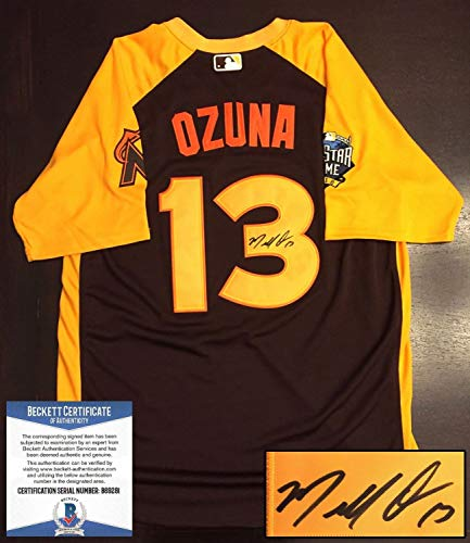 Miami Marlins Marcell Ozuna Autographed Signed Memorabilia 2016 All Star...