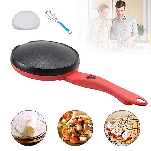 Electric Crepe Maker, Portable Crepe Maker With Non-Stick Coating, Crepes, Crepes, Pancakes, Bacon, Corn Tortillas With Automatic Temperature Control, Free Gift Paster and Egg Beater 1 PCS