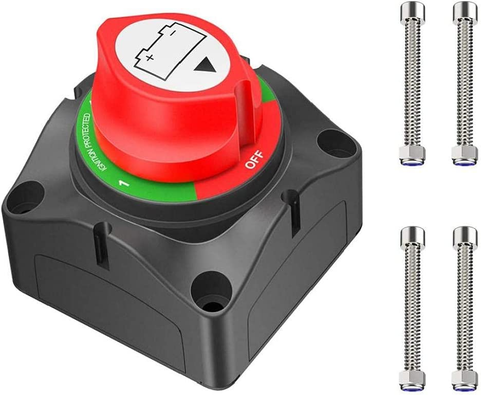 Hainice 67% OFF of fixed price Battery Disconnect Switch DC Ranking TOP9 Car 12V-48V Ba 1-2-Both-Off