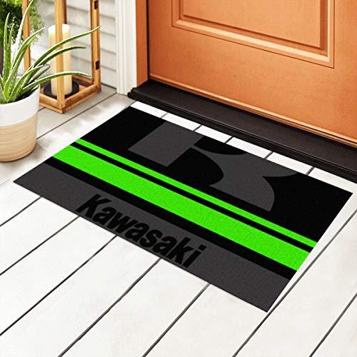 Kawasaki Dark Entrance PVC-Fußmatte mit rutschfester wasserdichter Unterseite, Fußmatten für Außentür, Küche, Badezimmer, Innenbereich, 40 x 60 cm