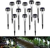 Lampe Solaire Jardin Exterieure au Sol Bawoo 12pcs Lampes Jardin Etanche Lampe...