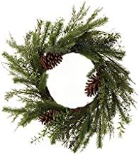 The Christmas Cart Fir and Pinecone Wreath | Floral Door Hanging | Home Decor |60cm | Christmas Floral |