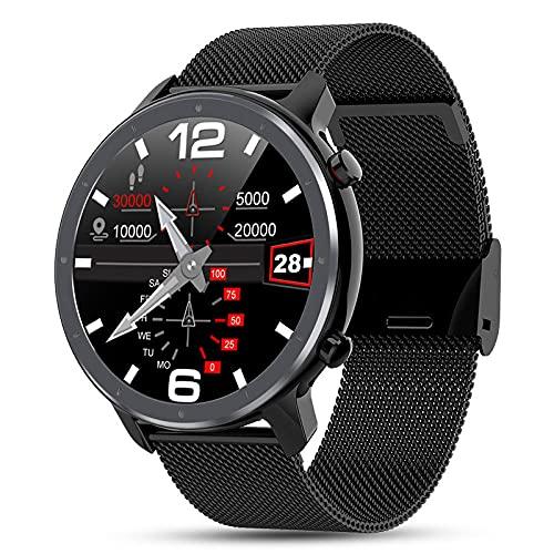 Berühren Sie intelligentes Armband Cardiochastic Pressure Blood Oxygen Exercise-Black Steel LKXL