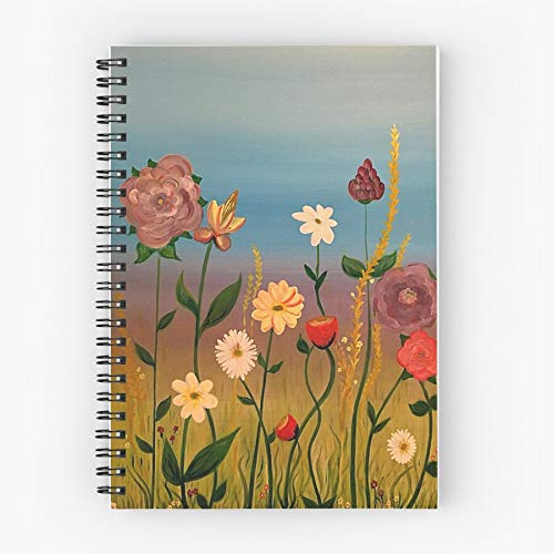 Blossoms Spring Garden Pretty Gardening Floral Bright Flower Cute School Five Star Spiral Notebook With Durable Print