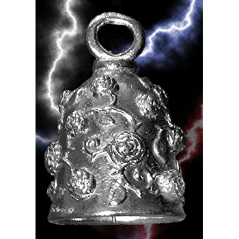 2 Guardian Bell Lady Rider Rose Motorcycle Biker Luck Gremlin Riding Bell or Key Ring