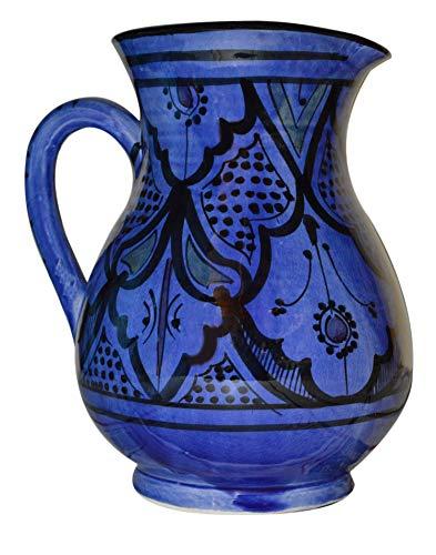 Moroccan Pitchers Sangria Handmade Ceramic Carafe Beverage Dispenser Jar Cooler Easy Pour
