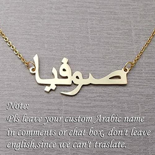 Collar con Nombre árabe Personalizado Collar con Nombre Personalizado en joyería con Nombre Personalizado árabe