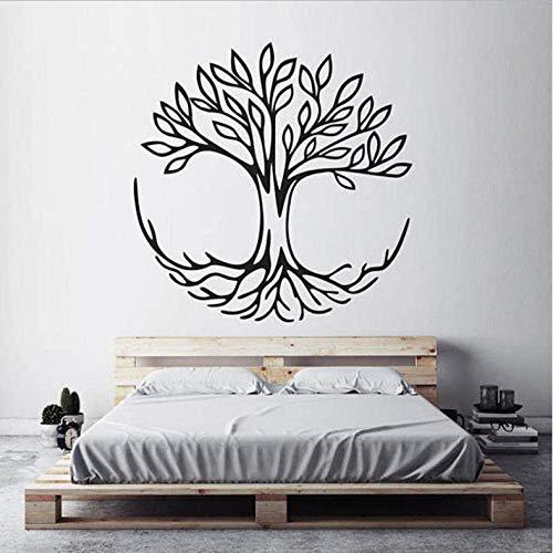 Baum Des Lebens Wandtattoos Verbindung Spirituelle Yoga Wohnkultur Wohnzimmer Vinyl Wandaufkleber Schlafzimmer Dekoration 57X57 Cm