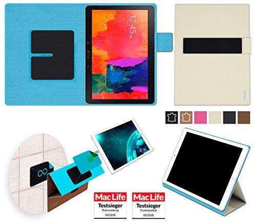 Hülle für Samsung Galaxy TabPro 10.1 Tasche Cover Hülle Bumper | in Beige | Testsieger