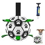 FGen Balle Jouet pour Chien, Dog Toys Football avec Pompe à Balle et Aiguille, Ballon de Soccer pour Chien, Jouet Aquatique pour Chiens, Se Conformer aux Normes de Sécurité des Jouets pour Enfants