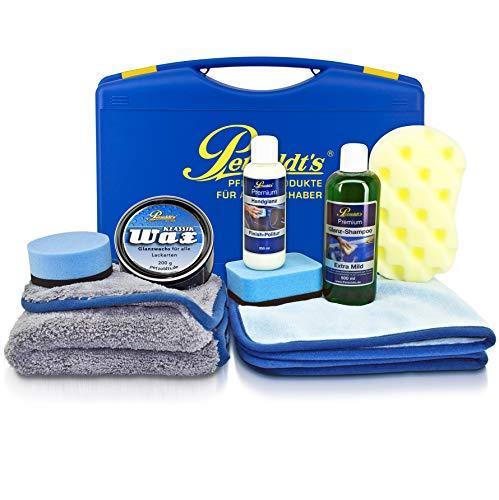 Petzoldt\'s Spezial Tiefenglanz Set, Wachs und Glanzpolitur; Fahrzeugpflegemittel im hochwertigen Pflegekoffer