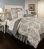 Country Toile Blue 3-Piece Comforter Set (King)