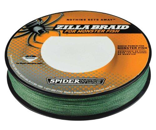 Spiderwire Zilla Braid Fishing Line, 40-Pound Test, 125-Yard Spool, Moss Green