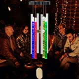 VGYVGYCC Solar Wind Chimes Light Outdoor Changing Colors Waterproof Hanging Mobile Memorial Wind Chimes Garden Decor Yard Patio Porch Deck Decoration