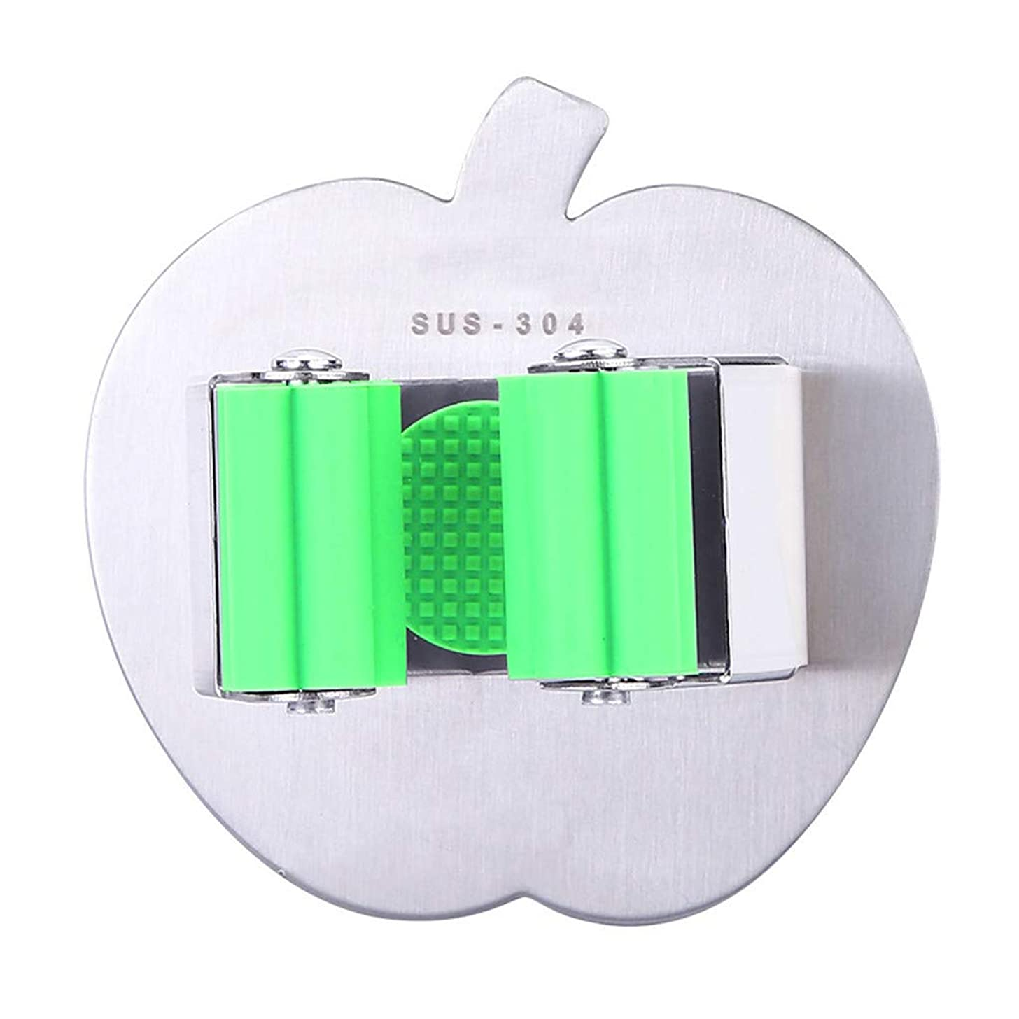 Broom Mop Holder Wall Mounted Adhesive Stainless Steel Mop and Broom Holder Organizer Brush Broom Hanger Wall Mount Utility Rack for Mops and Brooms 1PC (Green)