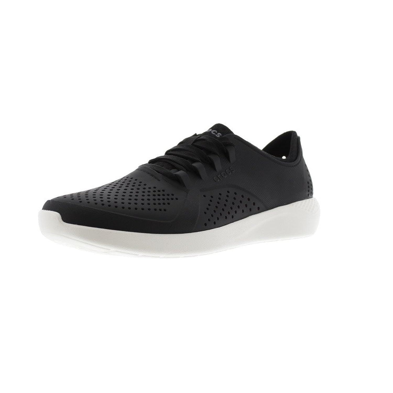 [クロックス] メンズ 男性用 シューズ 靴 スニーカー 運動靴 LiteRide Pacer - Black/White [並行輸入品]