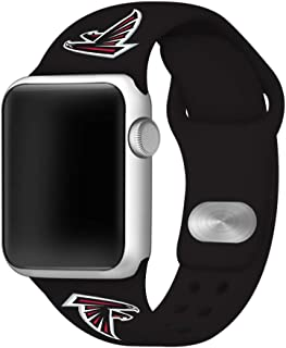 Game Time Atlanta Falcons Silicone Sport Band Compatible with Apple Watch - Band ONLY (42mm/44mm)