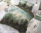 SLEEP TIME Bettwäsche Baumwolle Schöner Wald, 200cm x 220cm, Mit 2 Kissenbezüge 60cm x 70cm,...