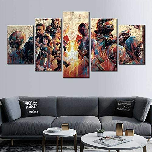 Anime Cartoon Poster Leinwand Malerei Wandkunst Bild für Kinder Heimtextilien,Rahmenlose Malerei,20x35cmx2, 20x45cmx2, 20x55cmx1
