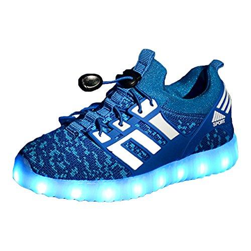 Yeeper LED Zapatillas de 7 Colores de Luces con USB de Carga Transpirables para...