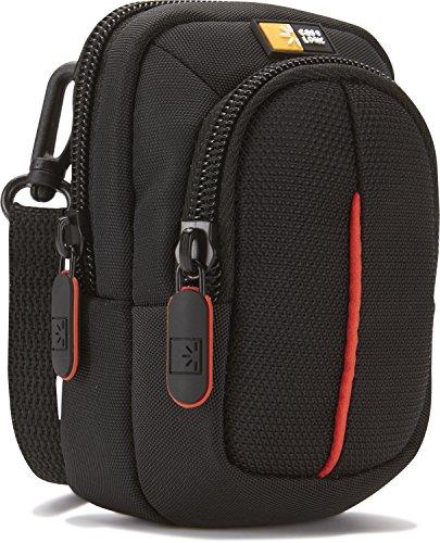 Case Logic DCB302K Camera Case S Kameratasche inkl. Schultergurt/Gürtelschlaufe (mit Zubehörfach) schwarz/rot