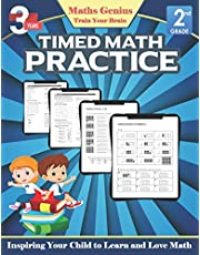 Maths Genius// Timed Math practice Grade 2// Inspiring Your Child to Learn and Love Math: Complete Math Workbook Grade 2: Daily Practice Workbook: Preschool Math at Home Grade 2