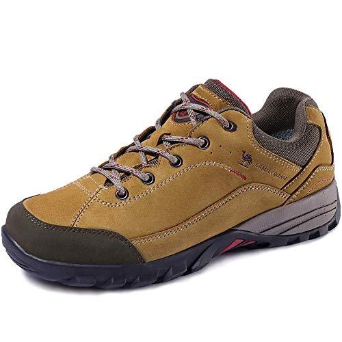 CAMEL CROWN Zapatillas de Senderismo para Hombres y Mujeres Antideslizantes Zapatos de Escalada Zapatos Seguros para Montaña Acampada Trekking al Aire Libre