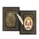 Wonderpool cuero realzado del cuaderno de la navidad con el cobre marca - antiguo a5 bound...